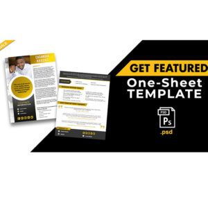 Get Featured One-Sheet Template